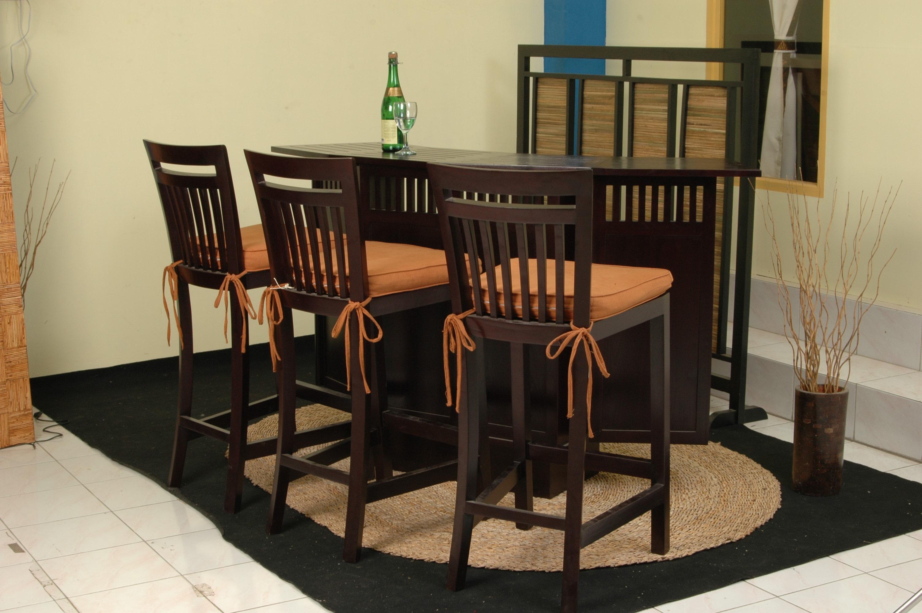 Bar Height Glass Table, Mexican Bar Table Set Indonesia Garden Teak Outdoor Furniture