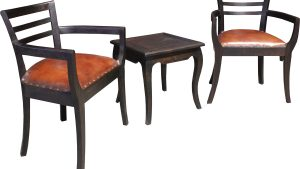 Tassa Slat Leather Teak Furniture