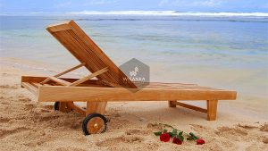 Manila Sunbed Loungers Wooden